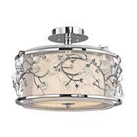 Jardine 3 Light 16 inch Chrome Semi-Flush Ceiling Light