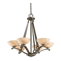 Kichler Lighting Garland 6 Light Chandelier in Shadow Bronze 42355SWZ