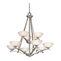 Kichler Lighting Garland 9 Light Chandelier in Antique Pewter 42356AP