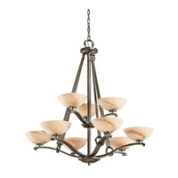 Kichler Lighting Garland 9 Light Chandelier in Shadow Bronze 42356SWZ photo thumbnail