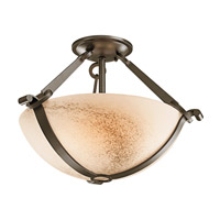 Kichler Lighting Garland 3 Light Semi-Flush in Shadow Bronze 42362SWZ