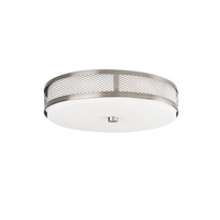 Signature 1 Light 13 inch Brushed Nickel Flush Mount Ceiling Light