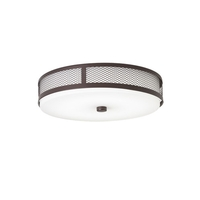 Kichler 42379OZLEDR Signature LED 13 inch Olde Bronze Flush Mount Ceiling Light