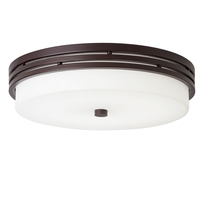 Kichler 42380OZLEDR Ceiling Space 1 Light 14 inch Olde Bronze Flush Mount Ceiling Light
