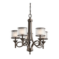 Kichler 42381MIZ Lacey 5 Light 25 inch Mission Bronze Chandelier Ceiling Light Medium