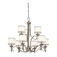 Lacey 9 Light 34 inch Antique Pewter Chandelier Ceiling Light