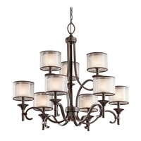 Kichler 42382MIZ Lacey 9 Light 34 inch Mission Bronze Chandelier Ceiling Light
