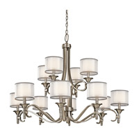 Kichler 42383AP Lacey 12 Light 42 inch Antique Pewter Chandelier Ceiling Light