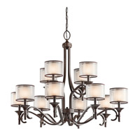 Kichler 42383MIZ Lacey 12 Light 42 inch Mission Bronze Chandelier Ceiling Light
