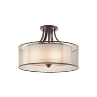 Lacey 4 Light 20 inch Mission Bronze Semi-Flush Ceiling Light