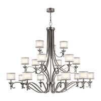 Kichler 42396AP Lacey 18 Light 62 inch Antique Pewter Chandelier Ceiling Light