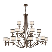 Kichler 42396MIZ Lacey 18 Light 62 inch Mission Bronze Chandelier Ceiling Light