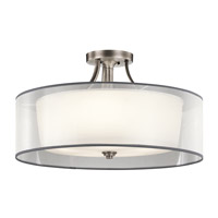 Lacey 5 Light 28 inch Antique Pewter Semi Flush Light Ceiling Light