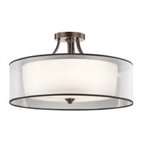 Kichler Lacey 5 Light Semi Flush Light in Mission Bronze 42399MIZ