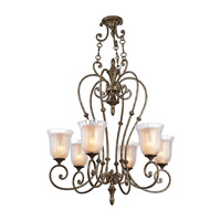 Kichler Lighting Veroia 6 Light Chandelier in Burnished Granite 42409BGN photo thumbnail