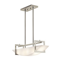 Kichler Lighting Crescent View 2 Light Island Light in Brushed Nickel 42418NI