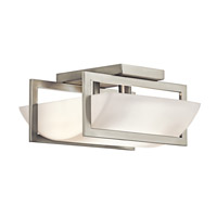 Kichler Lighting Crescent View 2 Light Semi-Flush in Brushed Nickel 42419NI photo thumbnail