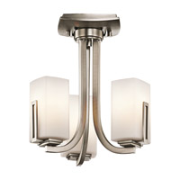 Kichler Lighting Leeds 3 Light Convertible in Antique Pewter 42424AP