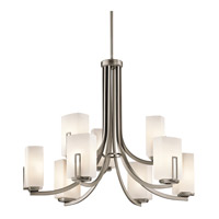 Kichler Lighting Leeds 9 Light Chandelier in Antique Pewter 42428AP thumb