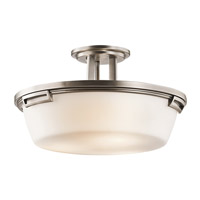 Kichler Lighting Leeds 3 Light Semi-Flush in Antique Pewter 42433AP