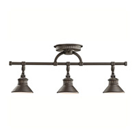 Kichler 42439OZ Sayre 3 Light Olde Bronze Rail Light Ceiling Light, MR16