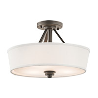 Kichler Lighting Glissade 3 Light Semi-Flush in Olde Bronze 42441OZ