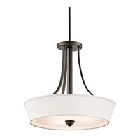 Kichler Lighting Glissade 3 Light Semi-Flush in Olde Bronze 42442OZ