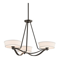 Kichler Lighting Glissade 3 Light Chandelier in Olde Bronze 42443OZ