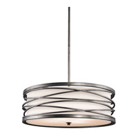 Kichler Lighting Krasi 4 Light Round Linear Chandelier in Warm Bronze 42465WMZ photo thumbnail