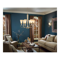 Kichler Lighting Roma Notte 6 Light Chandelier in Sunrise Mist 42471SRM alternative photo thumbnail