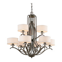 Kichler 42478OZ Leighton 9 Light 36 inch Olde Bronze Chandelier Ceiling Light