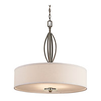 Kichler 42482OZ Leighton 3 Light 26 inch Olde Bronze Pendant Ceiling Light
