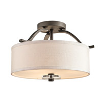 Kichler 42485OZ Leighton 3 Light 16 inch Olde Bronze Semi-Flush Ceiling Light