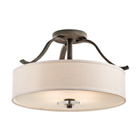 Kichler 42486OZ Leighton 4 Light 23 inch Olde Bronze Semi-Flush Ceiling Light