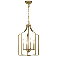 Kichler 42496NBR Morrigan 4 Light 15 inch Natural Brass Mini Chandelier Ceiling Light