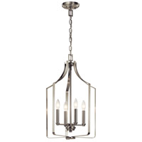 Kichler 42496NI Morrigan 4 Light 15 inch Brushed Nickel Chandelier Ceiling Light