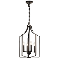 Kichler 42496OZ Morrigan 4 Light 15 inch Olde Bronze Chandelier Ceiling Light