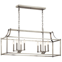 Kichler 42497NI Morrigan 8 Light 13 inch Brushed Nickel Chandelier Ceiling Light