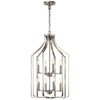 Kichler 42498NI Morrigan 8 Light 19 inch Brushed Nickel Chandelier Ceiling Light