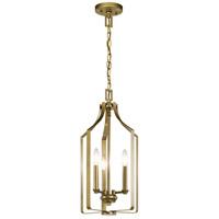 Kichler 42499NBR Morrigan 3 Light 1 inch Natural Brass Indoor Lantern Pendants Ceiling Light