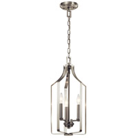 Kichler 42499NI Morrigan 3 Light 10 inch Brushed Nickel Indoor Lantern Pendant Ceiling Light