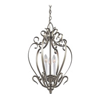 Kichler Lighting Signature 3 Light Foyer Chain Hung in Brushed Nickel 42501NI