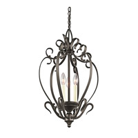 Kichler Lighting Signature 3 Light Foyer Chain Hung in Olde Bronze 42501OZ photo thumbnail