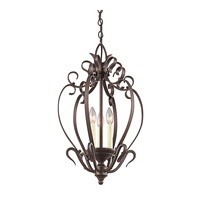 Kichler Lighting Signature 3 Light Foyer Chain Hung in Tannery Bronze 42501TZ photo thumbnail