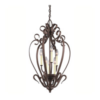 Kichler Lighting Signature 6 Light Foyer Chain Hung in Tannery Bronze 42502TZ