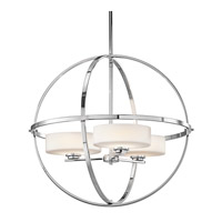 Kichler 42505CH Olsay 3 Light 23 inch Chrome Chandelier Ceiling Light