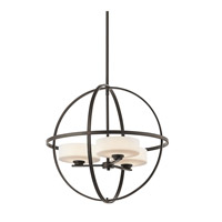 Kichler 42505OZ Olsay 3 Light 22 inch Olde Bronze Chandelier Ceiling Light