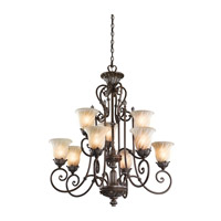 Kichler Lighting Sarabella 9 Light Chandelier in Legacy Bronze 42511LZ