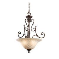 Kichler 42513LZ Sarabella 3 Light 23 inch Legacy Bronze Inverted Pendant Ceiling Light