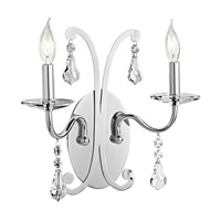 Kichler Lighting Leanora 2 Light Wall Sconce in Chrome 42543CH photo thumbnail